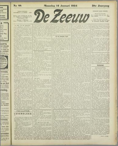 De Zeeuw. Christelijk-historisch nieuwsblad voor Zeeland 1924-01-14