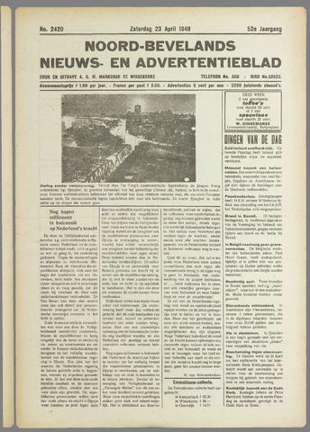 Noord-Bevelands Nieuws- en advertentieblad 1949-04-23