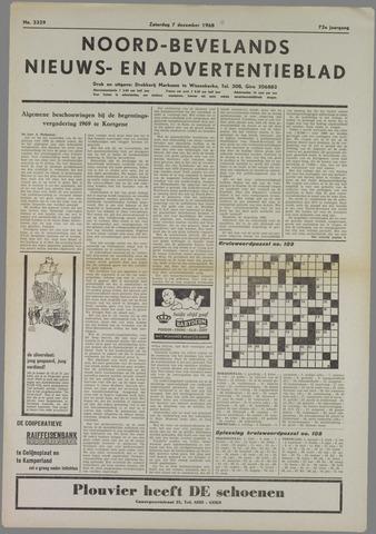 Noord-Bevelands Nieuws- en advertentieblad 1968-12-07