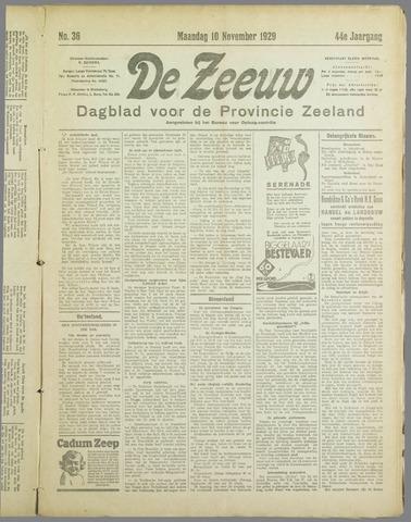 De Zeeuw. Christelijk-historisch nieuwsblad voor Zeeland 1929-11-10