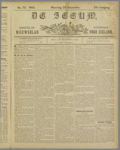 De Zeeuw. Christelijk-historisch nieuwsblad voor Zeeland 1905-12-25