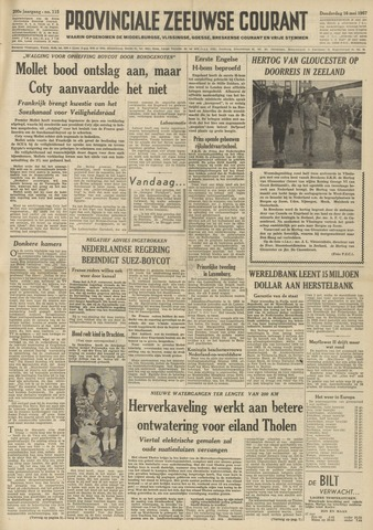 Provinciale Zeeuwse Courant 1957-05-16