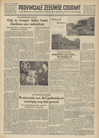 Provinciale Zeeuwse Courant 1952-09-09