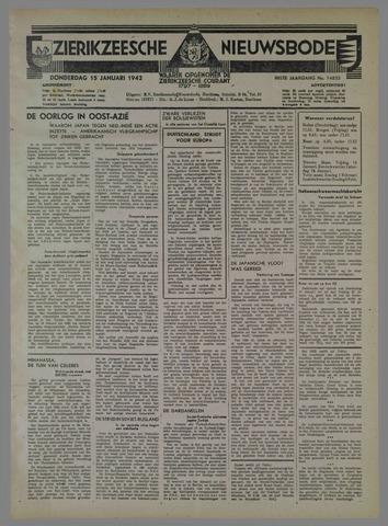 Zierikzeesche Nieuwsbode 1942-01-15