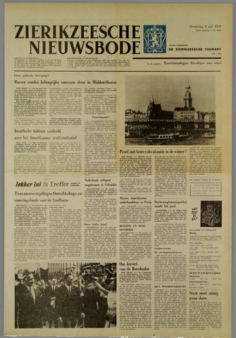 Zierikzeesche Nieuwsbode 1970-07-02