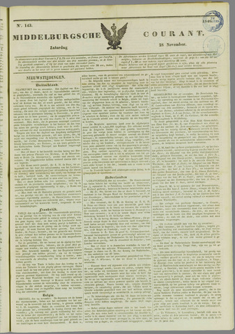 Middelburgsche Courant 1846-11-28