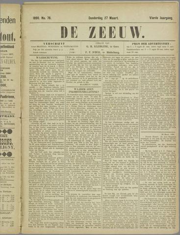 De Zeeuw. Christelijk-historisch nieuwsblad voor Zeeland 1890-03-27