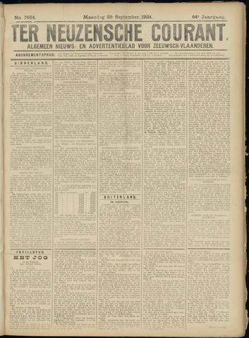 Ter Neuzensche Courant. Algemeen Nieuws- en Advertentieblad voor Zeeuwsch-Vlaanderen / Neuzensche Courant ... (idem) / (Algemeen) nieuws en advertentieblad voor Zeeuwsch-Vlaanderen 1924-09-29