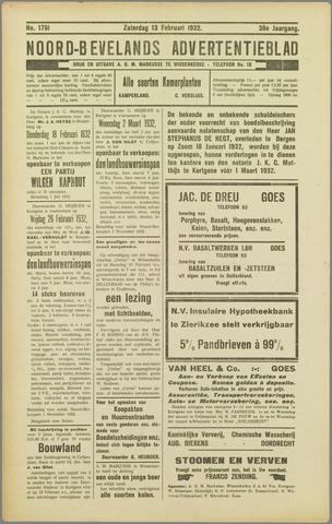 Noord-Bevelands Nieuws- en advertentieblad 1932-02-13