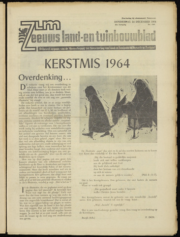 Zeeuwsch landbouwblad ... ZLM land- en tuinbouwblad 1964-12-24