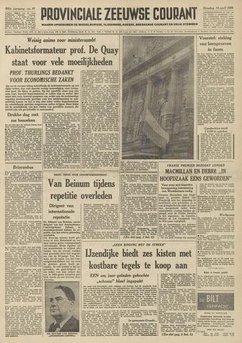 Provinciale Zeeuwse Courant 1959-04-14
