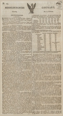 Middelburgsche Courant 1827-02-24