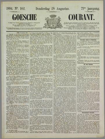 Goessche Courant 1884-08-28