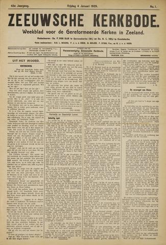 Zeeuwsche kerkbode, weekblad gewijd aan de belangen der gereformeerde kerken/ Zeeuwsch kerkblad 1929