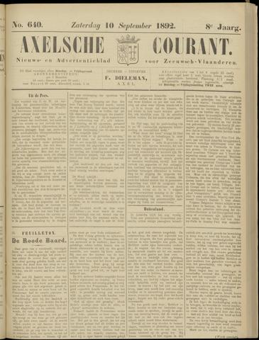 Axelsche Courant 1892-09-10