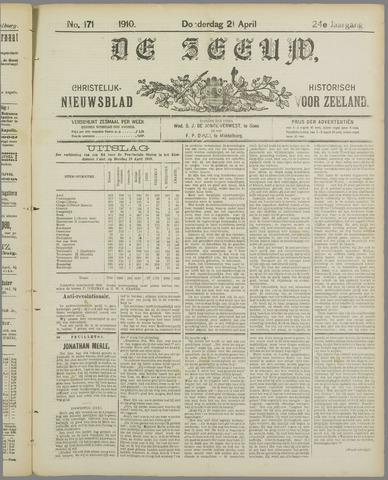De Zeeuw. Christelijk-historisch nieuwsblad voor Zeeland 1910-04-21