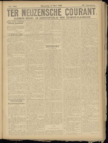 Ter Neuzensche Courant. Algemeen Nieuws- en Advertentieblad voor Zeeuwsch-Vlaanderen / Neuzensche Courant ... (idem) / (Algemeen) nieuws en advertentieblad voor Zeeuwsch-Vlaanderen 1923-05-14