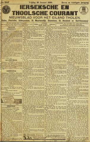 Ierseksche en Thoolsche Courant 1930-01-10