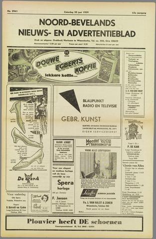 Noord-Bevelands Nieuws- en advertentieblad 1959-06-20