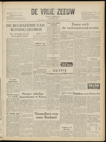 de Vrije Zeeuw 1952-02-15