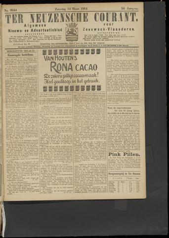 Ter Neuzensche Courant. Algemeen Nieuws- en Advertentieblad voor Zeeuwsch-Vlaanderen / Neuzensche Courant ... (idem) / (Algemeen) nieuws en advertentieblad voor Zeeuwsch-Vlaanderen 1914-03-14