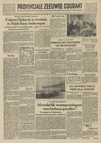 Provinciale Zeeuwse Courant 1953-09-25