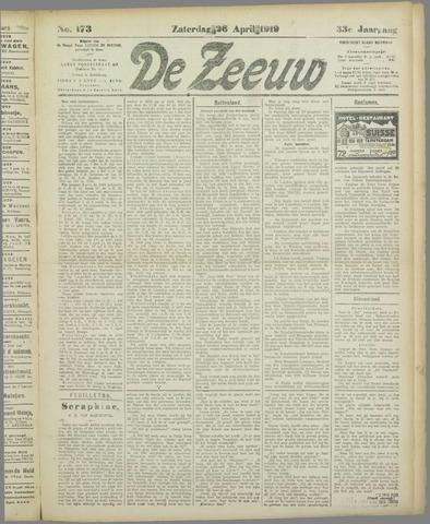De Zeeuw. Christelijk-historisch nieuwsblad voor Zeeland 1919-04-26