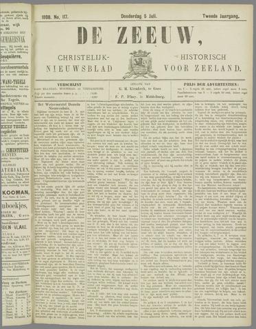 De Zeeuw. Christelijk-historisch nieuwsblad voor Zeeland 1888-07-05