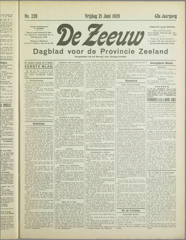 De Zeeuw. Christelijk-historisch nieuwsblad voor Zeeland 1929-06-21