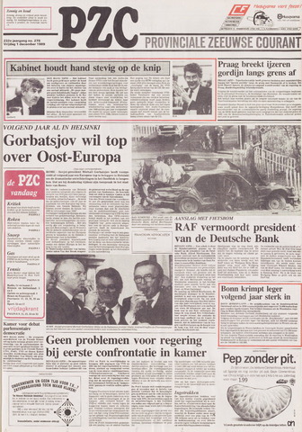 Provinciale Zeeuwse Courant 1989-12-01