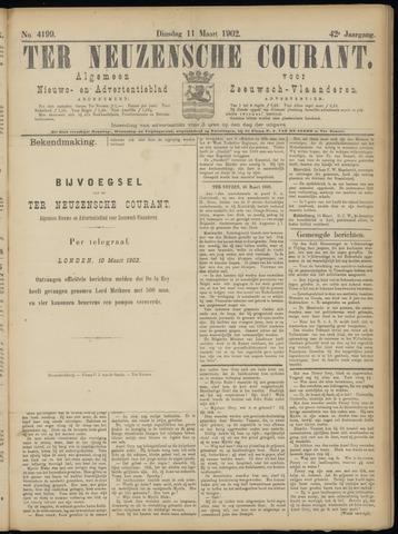 Ter Neuzensche Courant. Algemeen Nieuws- en Advertentieblad voor Zeeuwsch-Vlaanderen / Neuzensche Courant ... (idem) / (Algemeen) nieuws en advertentieblad voor Zeeuwsch-Vlaanderen 1902-03-11