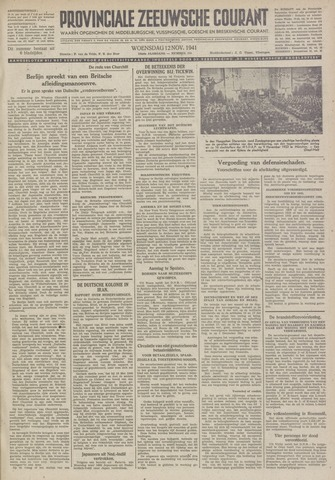Provinciale Zeeuwse Courant 1941-11-12