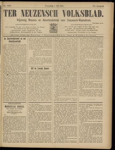Ter Neuzensch Volksblad. Vrijzinnig nieuws- en advertentieblad voor Zeeuwsch- Vlaanderen / Zeeuwsch Nieuwsblad. Nieuws- en advertentieblad voor Zeeland 1914-07-01
