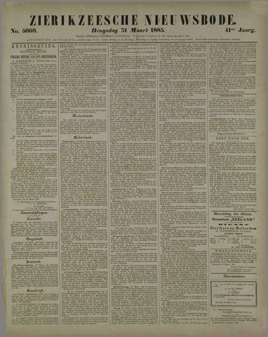 Zierikzeesche Nieuwsbode 1885-03-31