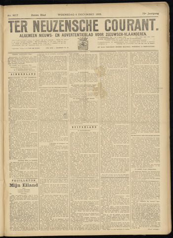 Ter Neuzensche Courant. Algemeen Nieuws- en Advertentieblad voor Zeeuwsch-Vlaanderen / Neuzensche Courant ... (idem) / (Algemeen) nieuws en advertentieblad voor Zeeuwsch-Vlaanderen 1933-12-06