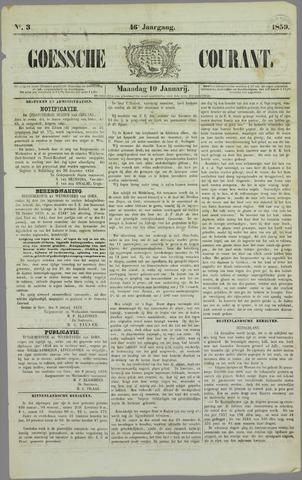 Goessche Courant 1859-01-10
