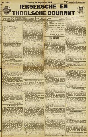 Ierseksche en Thoolsche Courant 1918-09-21