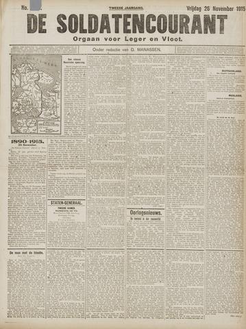 De Soldatencourant. Orgaan voor Leger en Vloot 1915-11-26
