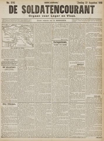 De Soldatencourant. Orgaan voor Leger en Vloot 1916-08-27