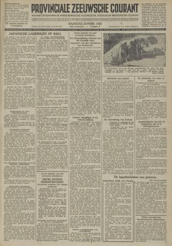 Provinciale Zeeuwse Courant 1942-02-23