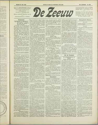 De Zeeuw. Christelijk-historisch nieuwsblad voor Zeeland 1934-07-27
