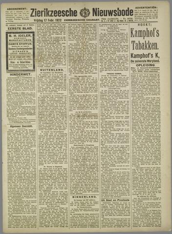 Zierikzeesche Nieuwsbode 1922-02-17