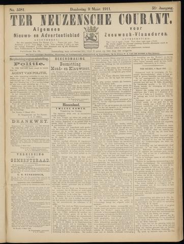 Ter Neuzensche Courant. Algemeen Nieuws- en Advertentieblad voor Zeeuwsch-Vlaanderen / Neuzensche Courant ... (idem) / (Algemeen) nieuws en advertentieblad voor Zeeuwsch-Vlaanderen 1911-03-09