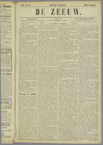 De Zeeuw. Christelijk-historisch nieuwsblad voor Zeeland 1891-08-08