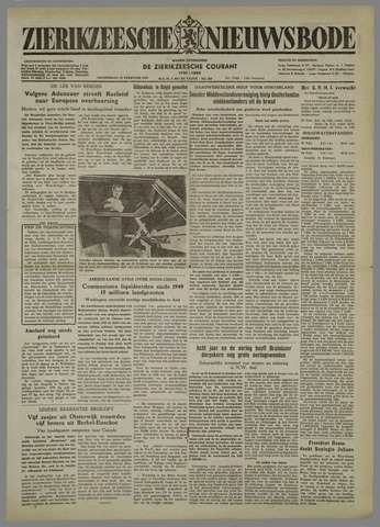 Zierikzeesche Nieuwsbode 1954-02-25