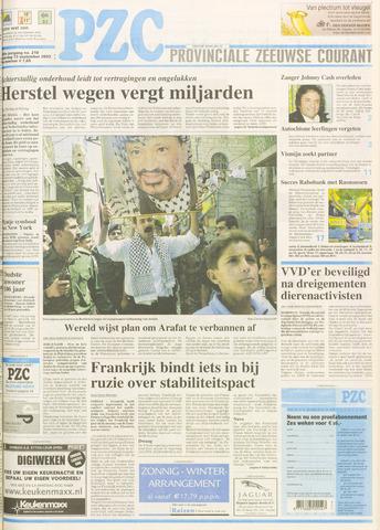 Provinciale Zeeuwse Courant 2003-09-13