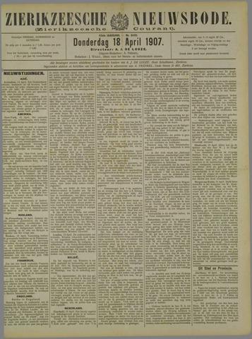 Zierikzeesche Nieuwsbode 1907-04-18