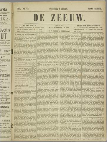 De Zeeuw. Christelijk-historisch nieuwsblad voor Zeeland 1891-01-08