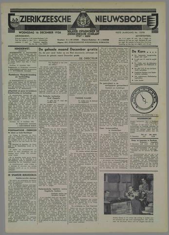 Zierikzeesche Nieuwsbode 1936-12-16