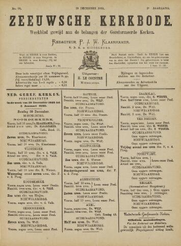 Zeeuwsche kerkbode, weekblad gewijd aan de belangen der gereformeerde kerken/ Zeeuwsch kerkblad 1888-12-29